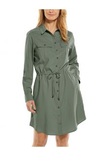 Coolibar---UV-Travel-shirt-dress-for-women---Napa---Olive