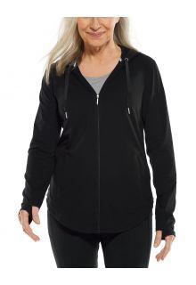 Coolibar---UV-Full-zip-hoodie-for-women---LumaLeo-Zip-Up---Black