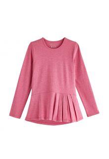 Coolibar---UV-Shirt-for-girls---Longsleeve---Aphelion-Tee---Dahlia-Pink