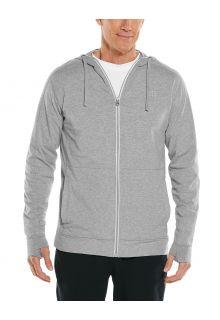 Coolibar---UV-Full-zip-hoodie-for-men---LumaLeo-Zip-Up---Grey