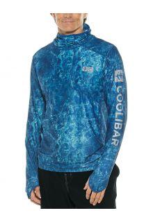 Coolibar---UV-Hooded-swim-shirt-for-men---Andros---Blue-Water