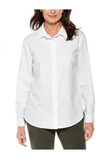 Coolibar---UV-Shirt-for-women---Hepburn-Blouse---White