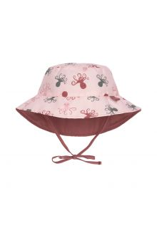 Lässig---Reversible-UV-Bucket-hat-for-babies---Octopus---Pink
