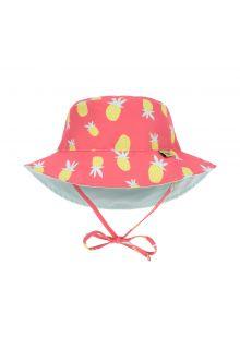 Lässig---Girl's-UV-hat-reversible---Pineapple---coral-/-light-blue