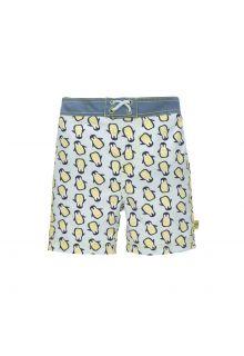 Lässig---Boys'-UV-swim-shorts-with-nappy---Penguin---light-blue