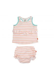 Lässig---Tankini-for-girls-Striped---White-/-Peach-/-Blue