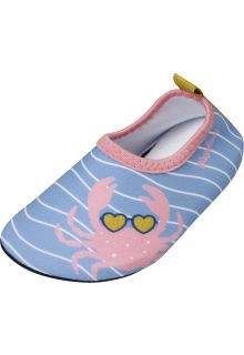 Playshoes---Uv-water-shoes-for-girls---Crab---Lightblue/Pink