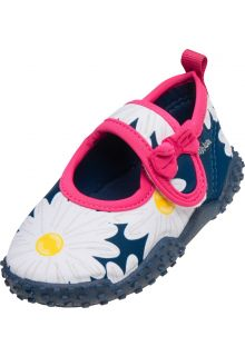 Playshoes---UV-swim-shoes-for-girls---Oxeye-daisy---Navy-blue