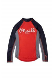 O'Neill---UV-Swim-shirt-for-girls---Longsleeve---Skins---Hot-Coral