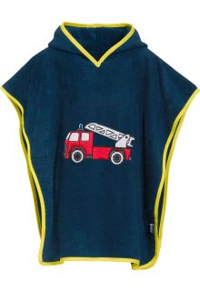 Playshoes---Baby-towel-with-hoodie---Firetruck