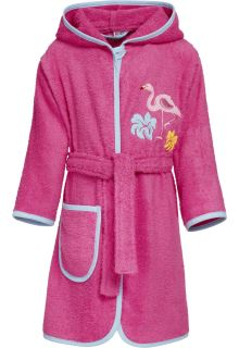 Playshoes---Bathrobe-for-girls---Flamingo---Pink