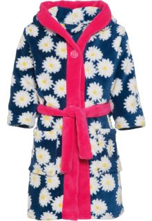 Playshoes---Fleece-dressing-gown-for-girls---Oxeye-daisy---Navy-/-pink