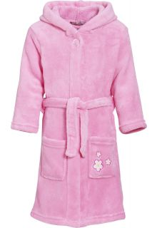 Playshoes---Fleece-Bathrobe-with-hoodie---Flowers-Lightpink