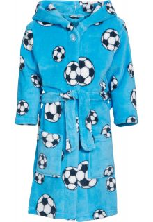 Playshoes---Fleece-Bathrobe-with-hoodie---Football-Blue