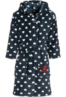 Playshoes---Fleece-bathrobe-with-hoodie-for-girls---hearts---blue