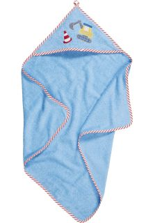 Playshoes---Bathtowel-with-hood-for-babies---Construction---Lightblue