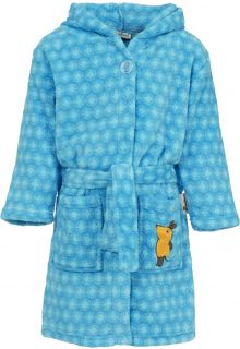 Playshoes---Fleece-Bathrobe-with-hoodie---'the-mouse'---Blue