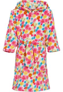 Playshoes---Fleece-Bathrobe-with-hoodie---Flowers-Yellow