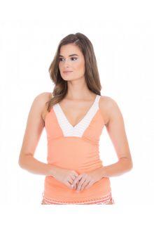 Cabana-Life---UV-resistant-Tankini-Top-for-ladies---Orange/White