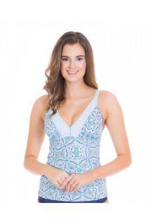 Cabana-Life---UV-resistant-Tankini-Top-for-ladies---Blue/White