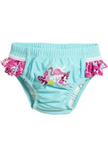 Playshoes---UV-swim-nappy-for-girls---Reusable---Flamingo---Aqua/pink