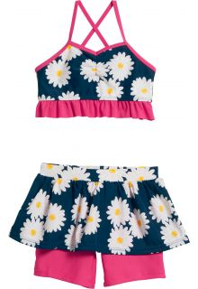 Playshoes---UV-swim-set-two-piece-for-girls---Oxeye-daisy---Blue/pink