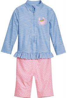 Playshoes---UV-swimsuit-for-girls---longsleeve---Crab---Lightblue/Pink