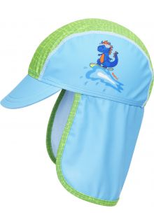 Playshoes---UV-Sun-cap-for-boys---Dino---Lightblue/Green