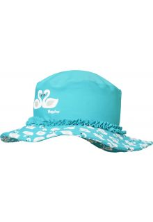 Playshoes---UV-sun-hat-for-girls---swans---light-blue