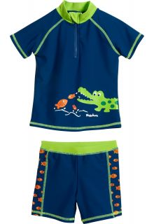 Playshoes---UV-swim-set-two-piece-for-boys---Crocodile---Blue