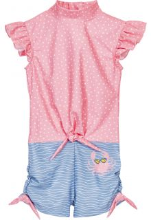 Playshoes---UV-swimsuit-for-girls---Crab---Pink/Lightblue