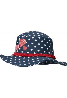 Playshoes---UV-sun-hat-for-girls---hearts---blue