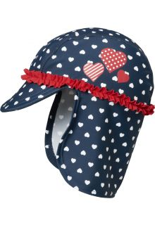 Playshoes---UV-sun-hat-for-girls---hearts---dark-blue