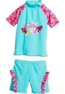 Playshoes---UV-swimsuit-two-piece-for-girls---Flamingo---Aqua-/-pink