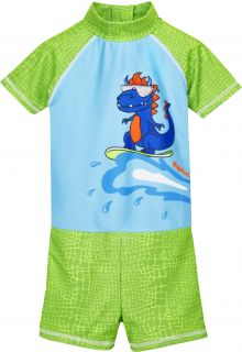 Playshoes---UV-swimsuit-for-boys---Dino---Lightblue/Green
