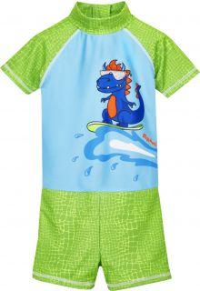 Playshoes---UV-swimsuit-for-boys---Dino---Lightblue/Green
