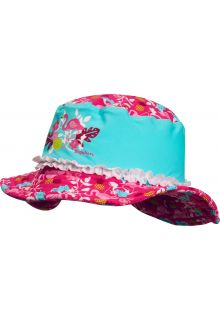 Playshoes---UV-sun-hat-for-girls---Flamingo---Aqua-blue-/-pink