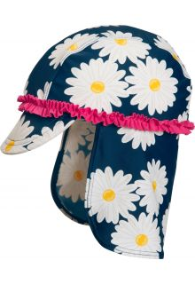 Playshoes---UV-sun-cap-for-children---Oxeye-daisy---Blue/pink/white