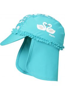 Playshoes---UV-sun-cap-for-girls---swans---light-blue