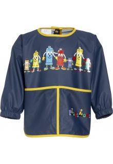 Playshoes---Apron-with-long-sleeves---Navy