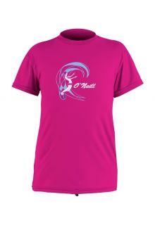 O'Neill---Girls'-UV-swim-shirt---short-sleeved---berry-