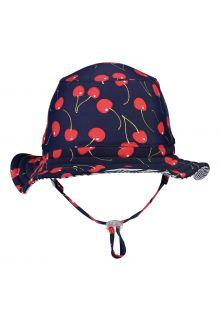 Snapper-Rock---Reversible-UV-Bucket-Hat-for-girls---Ma-Cherie---Navy-Cherry/Blue-White-stripes
