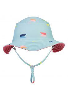 Snapper-Rock---Reversible-UV-Bucket-Hat-for-boys---Maritieme-Fliers---Lightblue/Coral
