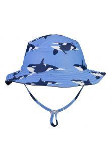 Snapper-Rock---Reversible-UV-Bucket-Hat-for-boys---Orca-Ocean---Blue/Darkblue