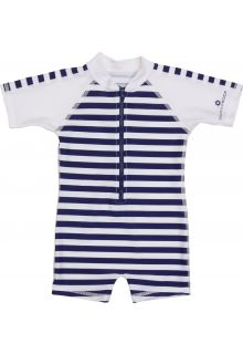 Snapper-Rock---One-Piece-UV-Swimsuit-Kids-Short-Sleeve--Navy/White-Stripe