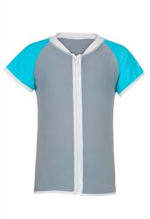 Snapper-Rock---Aqua/Grey-SS-Zip-Rash-Top