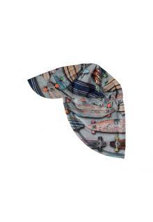 Molo---UV-sun-cap-with-neck-flap-for-kids---Nando---Skateboard-print