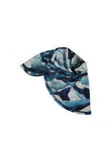 Molo---UV-sun-cap-with-neck-flap-for-kids---Nando---Whale-print