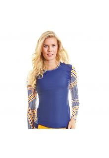 Cabana-Life---UPF-50+-Blue-with-stripes-sleeve---Zip-Back-Rashguard