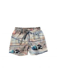 Molo---UV-swim-shorts-for-kids---Niko---Volleyball-Sunset